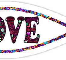 Multi-Colored Christian Fish 'LOVE' Sticker