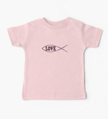 Multi-Colored Christian Fish 'LOVE' Baby Tee