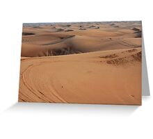 Sand dunes in the desert. Greeting Card