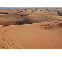 Sand dunes in the desert. Photographic Print