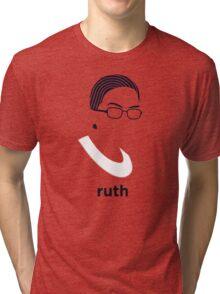 Ruth Bader Ginsburg (Hirsute History) Tri-blend T-Shirt