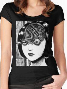 Uzumaki / Spiral - Junji Ito Tshirt (High Quality) Women's Fitted Scoop T-Shirt