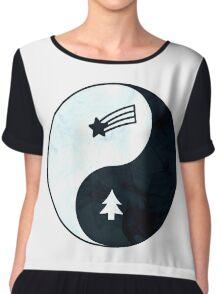 Gravity Falls Yin Yang Chiffon Top