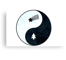 Gravity Falls Yin Yang Canvas Print