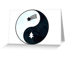 Gravity Falls Yin Yang Greeting Card