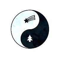 Gravity Falls Yin Yang Photographic Print