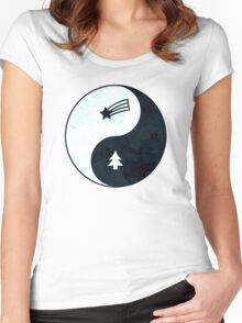 Gravity Falls Yin Yang Women's Fitted Scoop T-Shirt