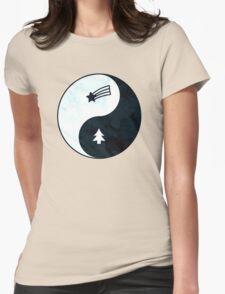 Gravity Falls Yin Yang Womens Fitted T-Shirt