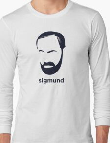 Sigmund Freud (Hirsute History) Long Sleeve T-Shirt