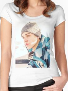 matthew espinosa Women's Fitted Scoop T-Shirt