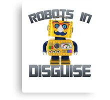 Vintage toy robot in disguise Canvas Print