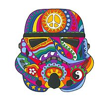 Psychedelic Storm Mask Photographic Print