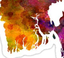 Bangladesh in watercolor Sticker