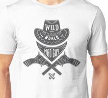 Mad guy cowboy emblem Unisex T-Shirt