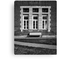Lone Bench Canvas Print