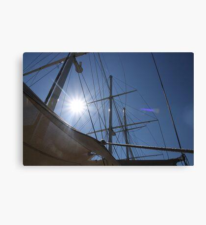 Looking up at sails  Canvas Print