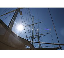 Looking up at sails  Photographic Print