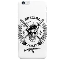 Special forces monochrome emblem iPhone Case/Skin