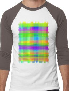 Psychedelic Fabric Texture Pattern Men's Baseball ¾ T-Shirt