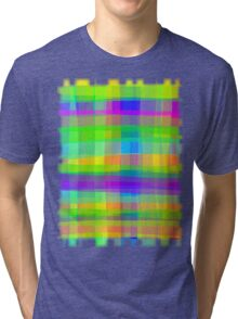Psychedelic Fabric Texture Pattern Tri-blend T-Shirt