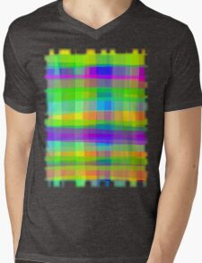Psychedelic Fabric Texture Pattern Mens V-Neck T-Shirt