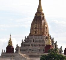 Hallowed earth: a stunning temple in Bagan, Myanmar Sticker