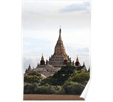 Hallowed earth: a stunning temple in Bagan, Myanmar Poster