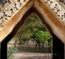 Ornate gateway to a trail – Bagan, Myanmar Sticker