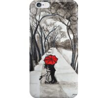 Snow Kiss Romantic painting  iPhone Case/Skin