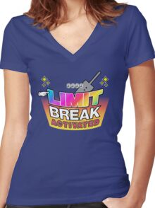Limit Break Activated! Women's Fitted V-Neck T-Shirt