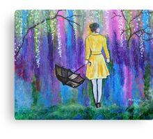 Spring Walk Abstract Landscape colorful vibrant Canvas Print