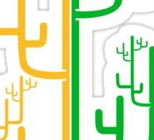 art branches cool large desert cactus design pattern Sticker