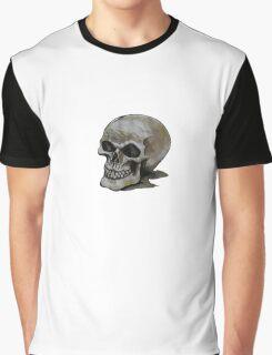 Watercolour Skull Graphic T-Shirt
