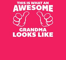 Awesome Grandma Looks Like Quote Womens Fitted T-Shirt