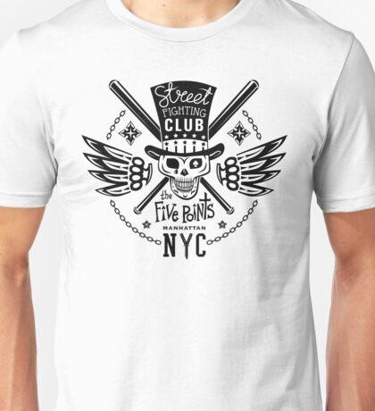 Street fight monochrome emblem Five Points Unisex T-Shirt