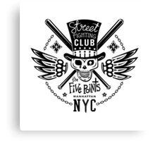 Street fight monochrome emblem Five Points Canvas Print