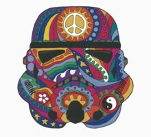 Psychedelic Storm Mask Kids Tee
