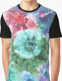 watercolor flowers Graphic T-Shirt