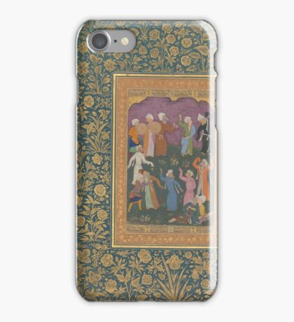 Dancing Dervishes, Folio from the Shah Jahan Album Calligrapher, Mir 'Ali Haravi  iPhone Case/Skin