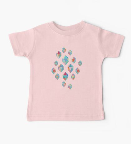Floating Gems - a pattern of painted polygonal shapes Baby Tee