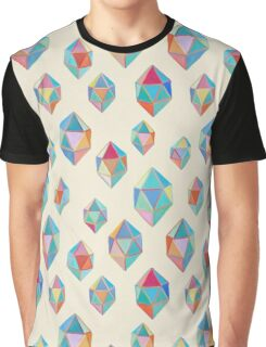 Floating Gems - a pattern of painted polygonal shapes Graphic T-Shirt
