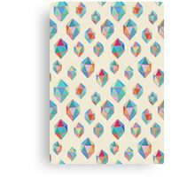 Floating Gems - a pattern of painted polygonal shapes Canvas Print