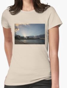 Early Birds, Famous Beach and Sun Rays - Waikiki, Honolulu, Hawaii Womens Fitted T-Shirt