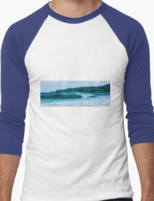 Byron beach with Cape Byron lighthouse Men's Baseball ¾ T-Shirt