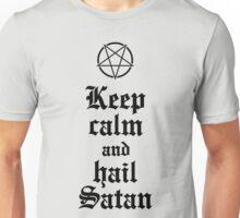 Keep calm and hail Satan No.2 (black) Unisex T-Shirt