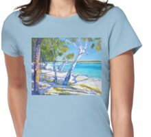 Bribie Beach Sunny Sunday Womens Fitted T-Shirt