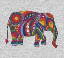 Psychedelic Elephant One Piece - Long Sleeve