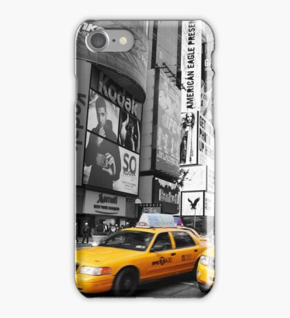 New York City yellow taxi iPhone Case/Skin