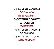 On Fleet Street clean sweep Photographic Print