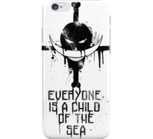 A Child of The Sea - Black iPhone Case/Skin